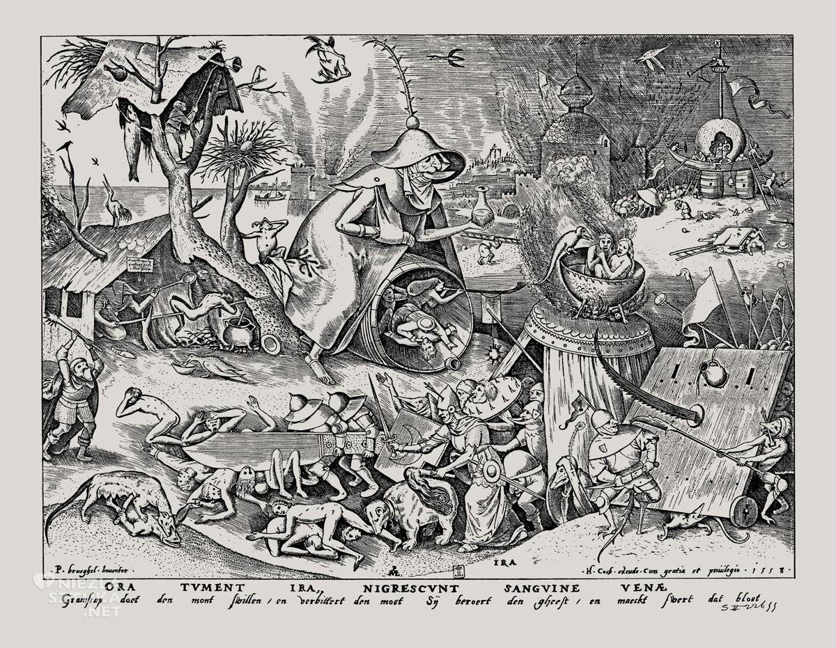 Pieter Bruegel starszy, Ira, Gniew, Siedem grzechów głównych, sztuka niderlandzka, Niezła Sztuka
