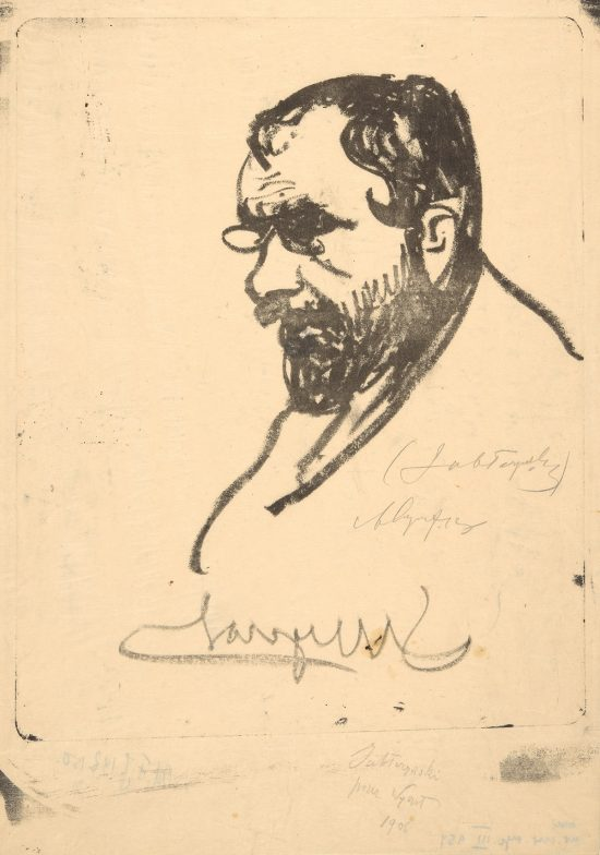 Leon Wyczółkowski, Feliks Jabłczyński, sztuka polska, portret artysty, lewy profil, Niezła Sztuka