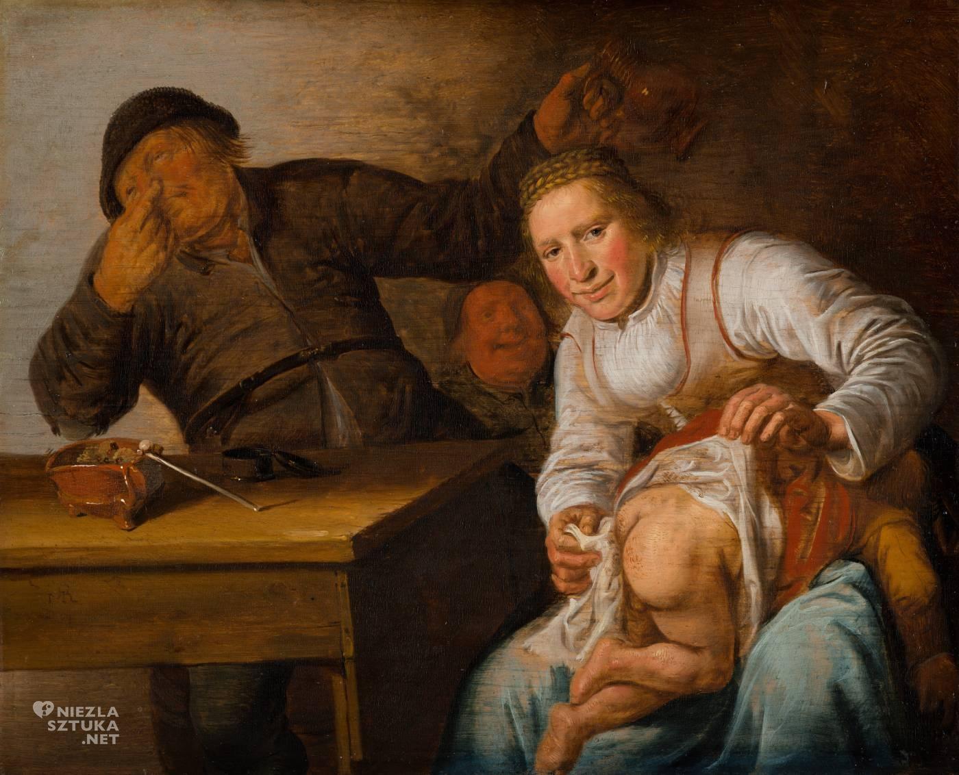 Jan Miense Molenaer, pięć zmysłów, zapach, sztuka niderlandzka, Niezła Sztuka