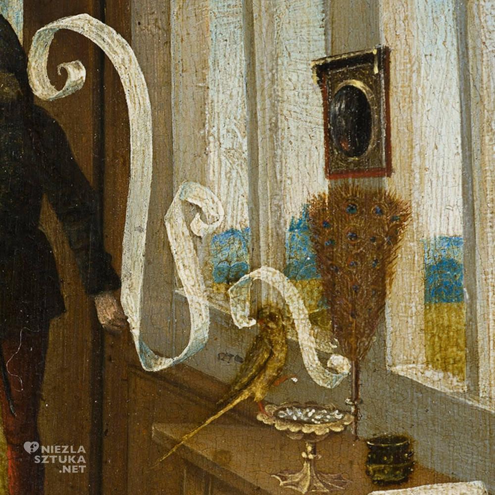 Mistrz Dolnoreński, Czary miłosne, detal, średniowiecze, Niezła Sztuka
