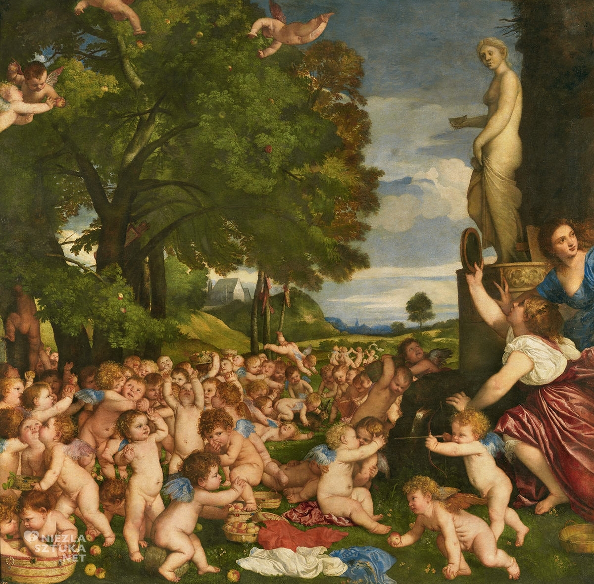 Tycjan, Święto Wenus, szkoła wenecka, renesans, sztuka włoska, Niezła Sztuka