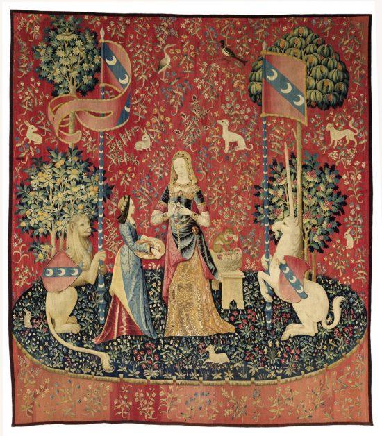 Dama z jednorożcem, zapach, sztuka średniowieczna, gotyk, Niezła Sztuka