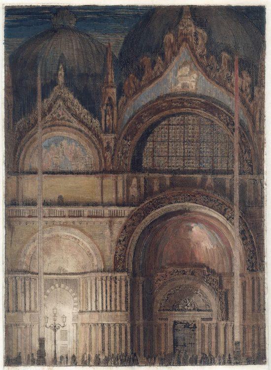 Feliks Jabłczyński, Portal kościoła św. Marka w Wenecji, Włochy, architektura, sztuka polska, Niezła Sztuka