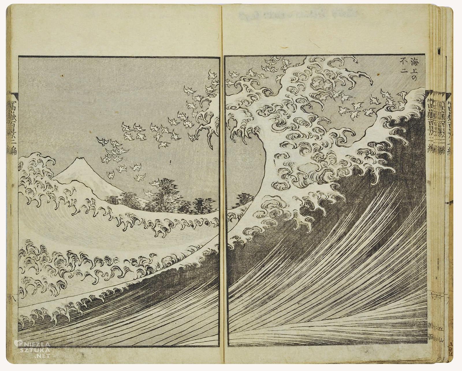 Hokusai Katsushika, Widok na górę Fuji ze strony morza, sztuka japońska, Niezła Sztuka