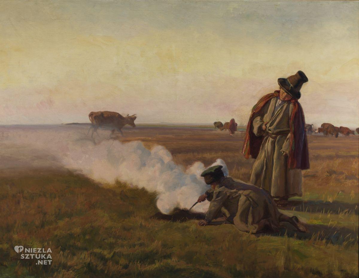 Józef Chełmoński, Jesień, pory roku w sztuce, sztuka polska, malarstwo polskie, niezła sztuka