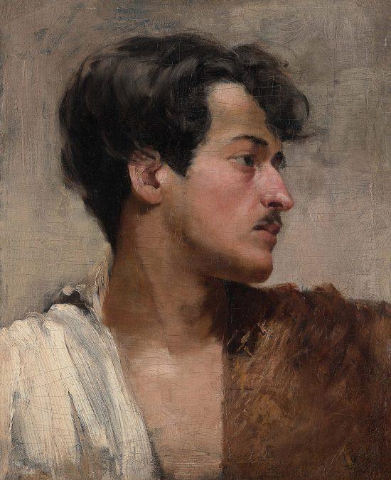 Józef Rapacki, Autoportret z profilu, sztuka polska, Niezła Sztuka