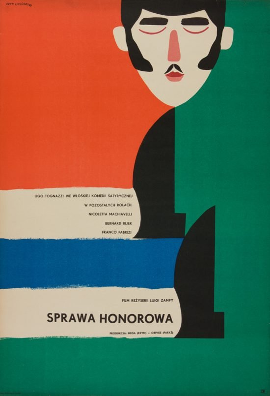 Eryk Lipiński, plakat, film, Sprawa honorowa, Dydo Poster Collection, niezła sztuka