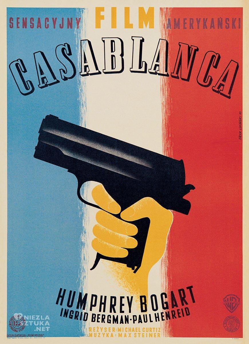Eryk Lipiński, plakat, film, Casablanca, Dydo Poster Collection, niezła sztuka
