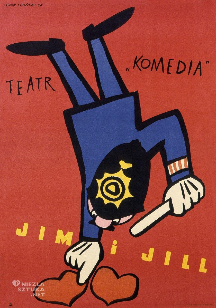 Eryk Lipiński, plakat, film, Jim i Jill, Dydo Poster Collection, niezła sztuka