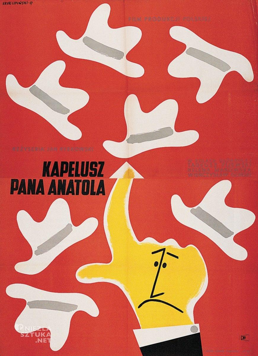 Eryk Lipiński, plakat, film, Kapelusz Pana Anatola, Dydo Poster Collection, niezła sztuka