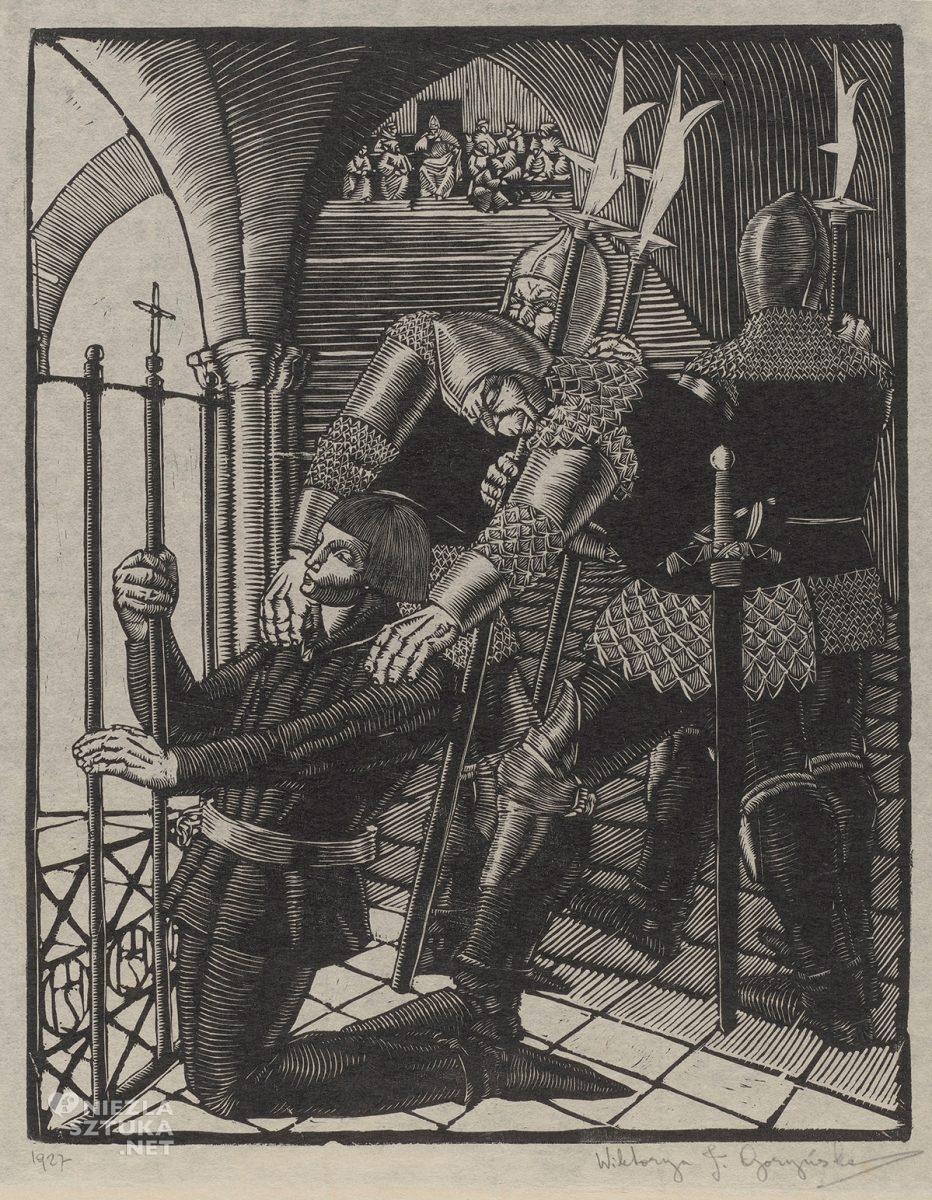 Wiktoria Goryńska, Joanna d'Arc w więzieniu, sztuka polska, grafika, kobiety w sztuce, Niezła Sztuka
