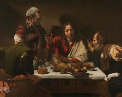 Caravaggio, Wieczerza w Emaus, sztuka religijna, barok, caravaggionizm, Niezła Sztuka