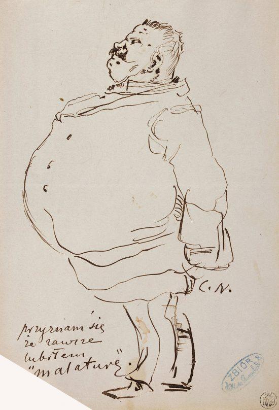 Cyprian Kamil Norwid, szkic, rysunek, szlachcic, niezła sztuka