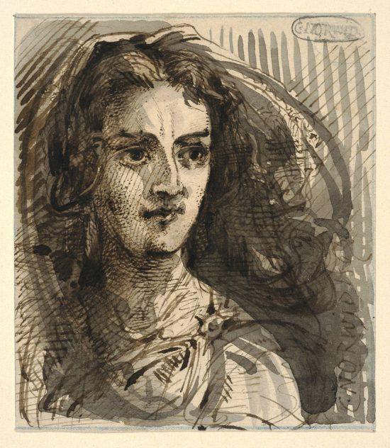portret młodej kobiety, Cyprian Kamil Norwid, sztuka polska, niezła sztuka