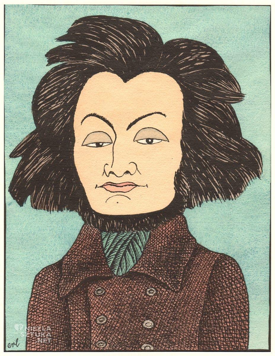 Eryk Lipiński, Karykatura, Adam Mickiewicz, Niezła Sztuka