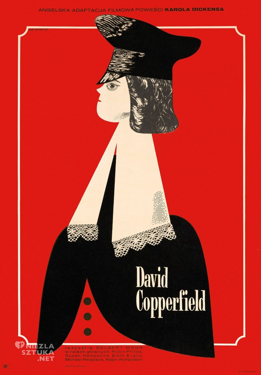 Eryk Lipiński, plakat filmowy, David Copperfield, polska szkoła plakatu, Niezła Sztuka
