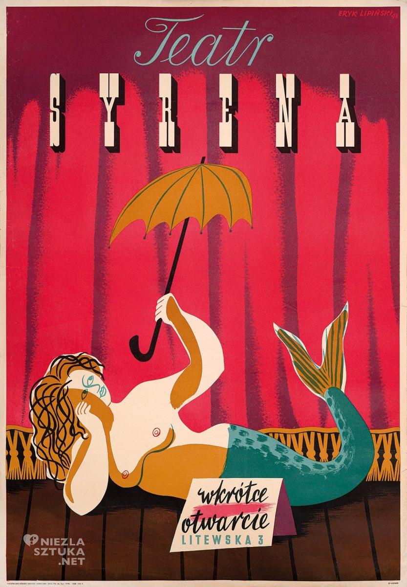 Eryk Lipiński, plakat, Teatr Syrena, polska szkoła plakatu, Niezła Sztuka