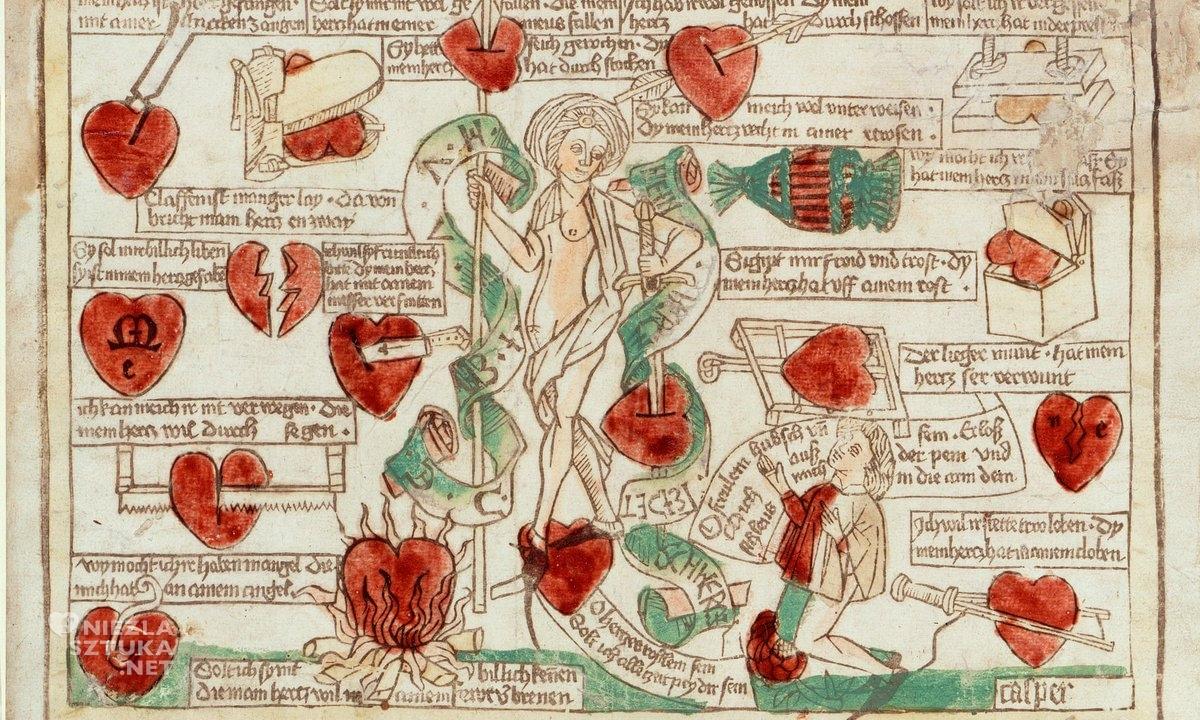 frau minne, wenus, średniowieczny manuskrypt, czary miłosne, niezła sztuka