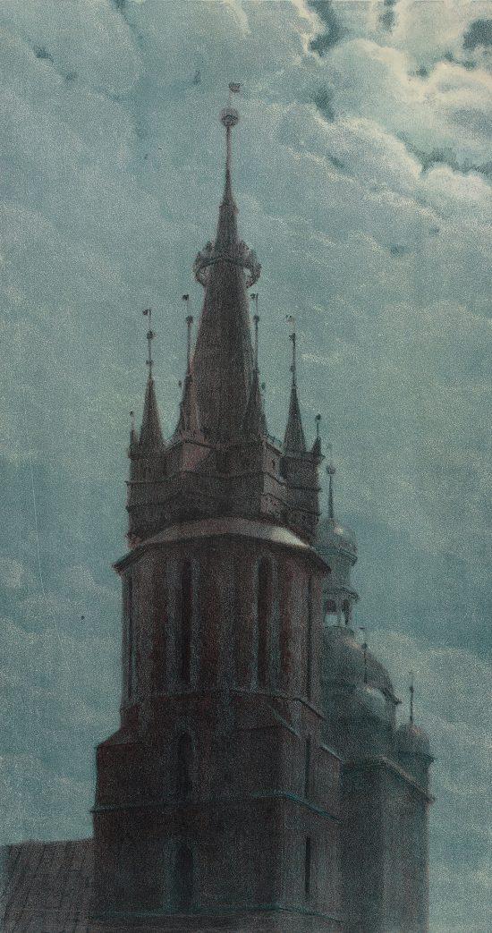 Józef Rapacki, Wieża kościoła Mariackiego, Kraków, sztuka polska, Niezła Sztuka
