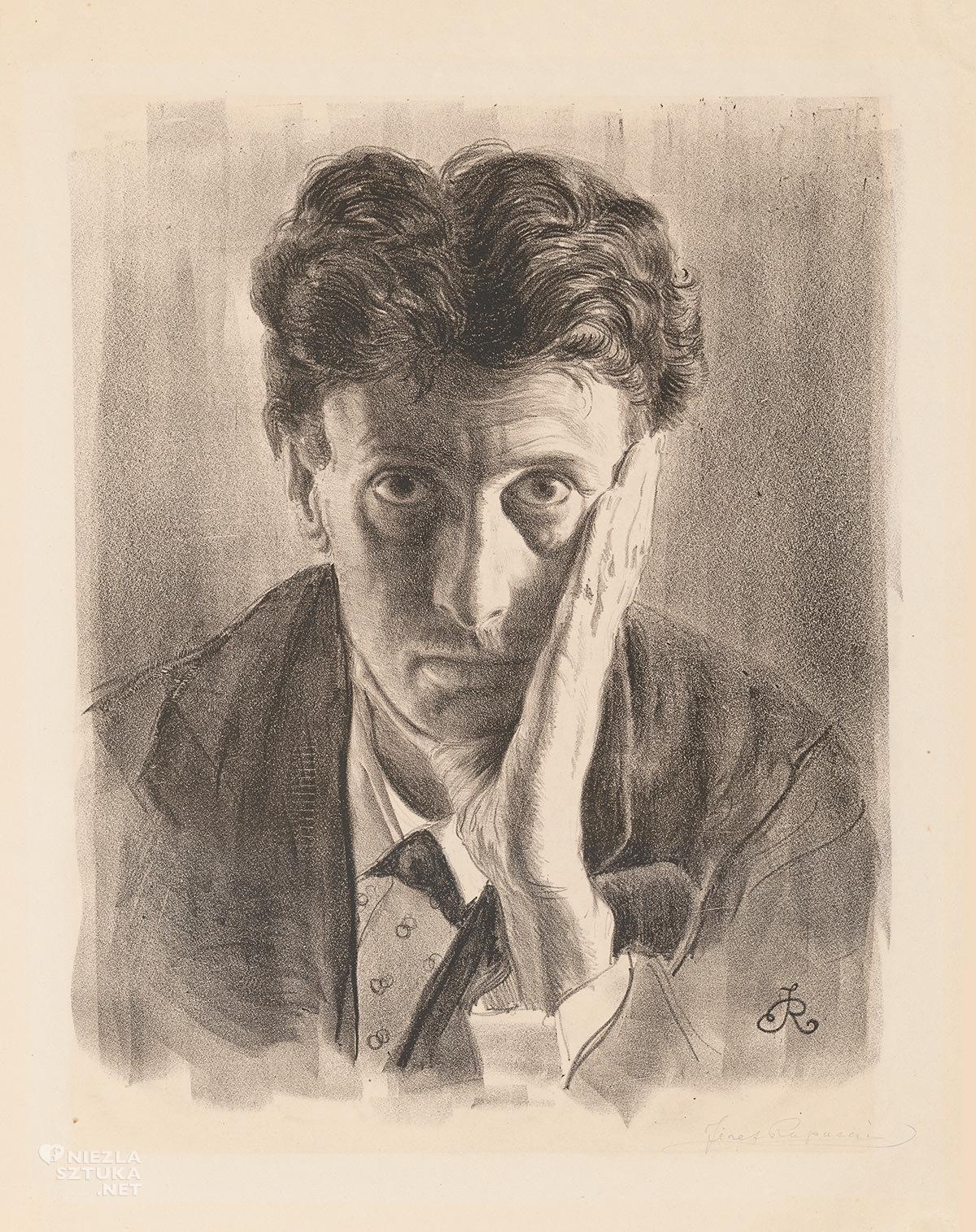 Józef Rapacki, Autoportret, sztuka polska, Niezła Sztuka
