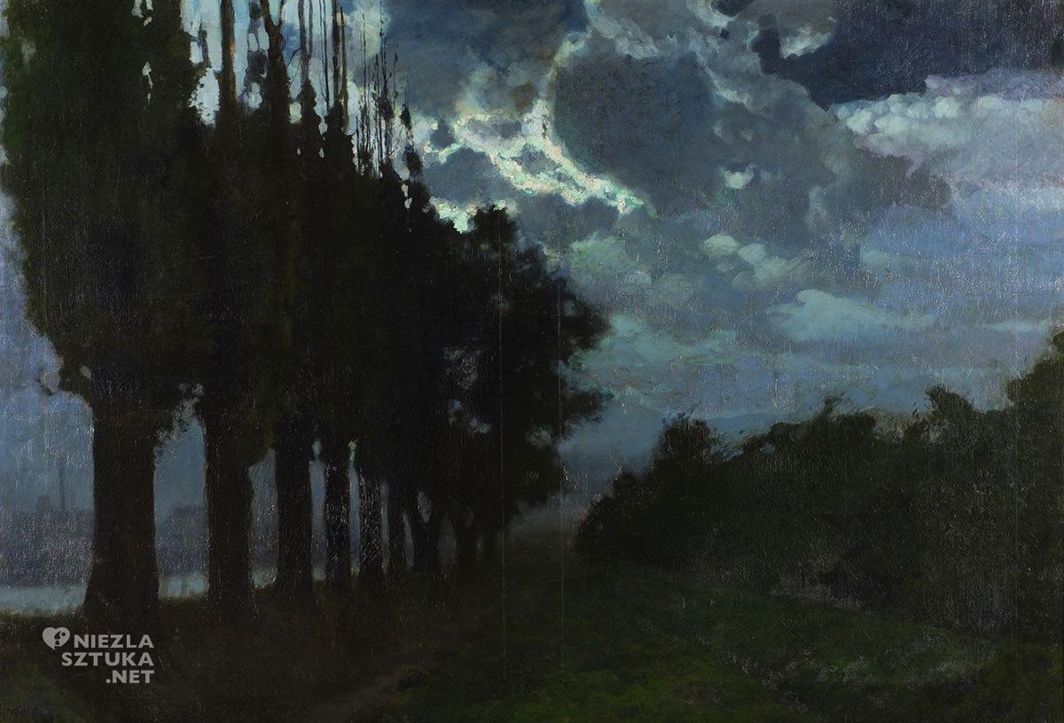 Józef Rapacki, nokturn, pejzaż, sztuka polska, niezła sztuka