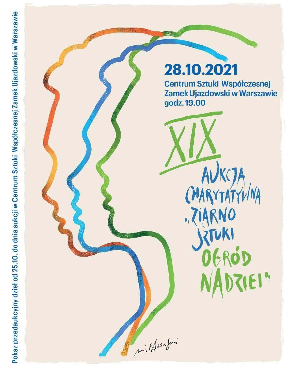 ogród nadziei, aukcja sztuki, aukcja charytatywna, sztuka polska, plakat, Andrzej Pągowski, niezła sztuka
