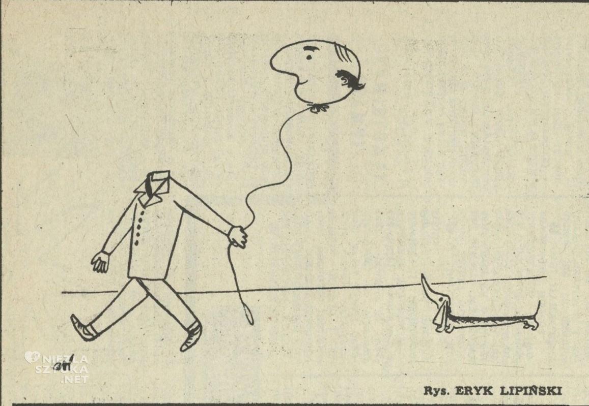 Eryk Lipiński, rysunek satyryczny, Przekrój, jamnik, Niezła Sztuka