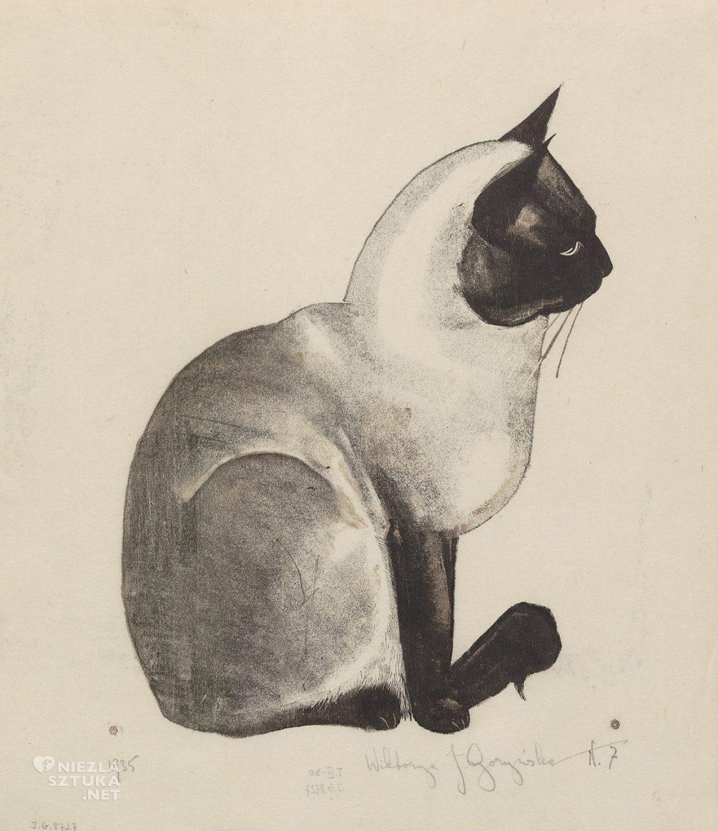 Wiktoria Goryńska, Kot syjamski, sztuka polska, kobiety w sztuce, Niezła Sztuka