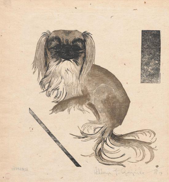 Wiktoria Goryńska, Pekińczyk, psy w sztuce, kobiety w sztuce, Niezła Sztuka