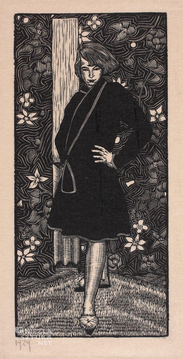 Wiktoria Goryńska, Autoportret w stroju domowym, kobiety w sztuce, Niezła Sztuka