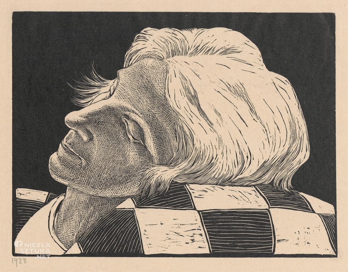 Wiktoria Goryńska, Portret - głowa na poduszce, kobiety w sztuce, Niezła Sztuka
