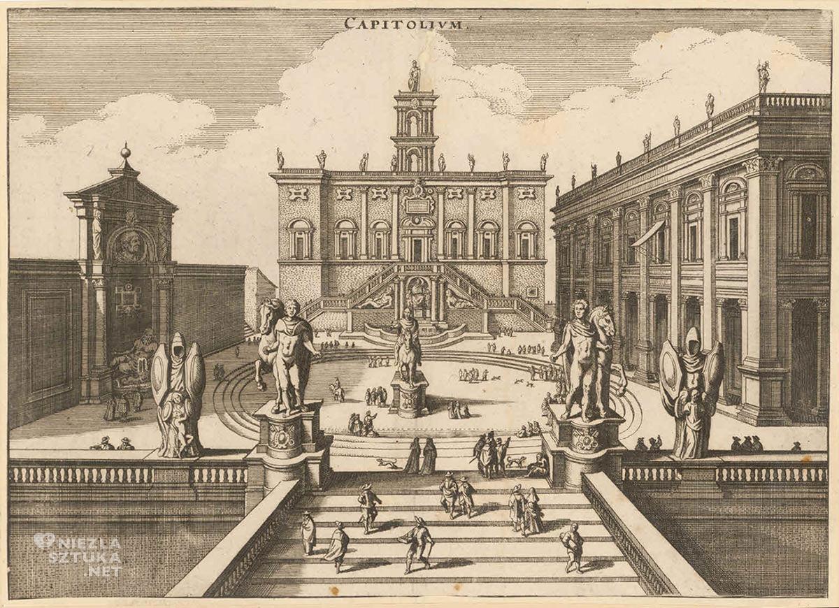 wzgórze kapitolińskie, Rzym, Kapitol, pomnik Marka Aureliusza, niezła sztuka