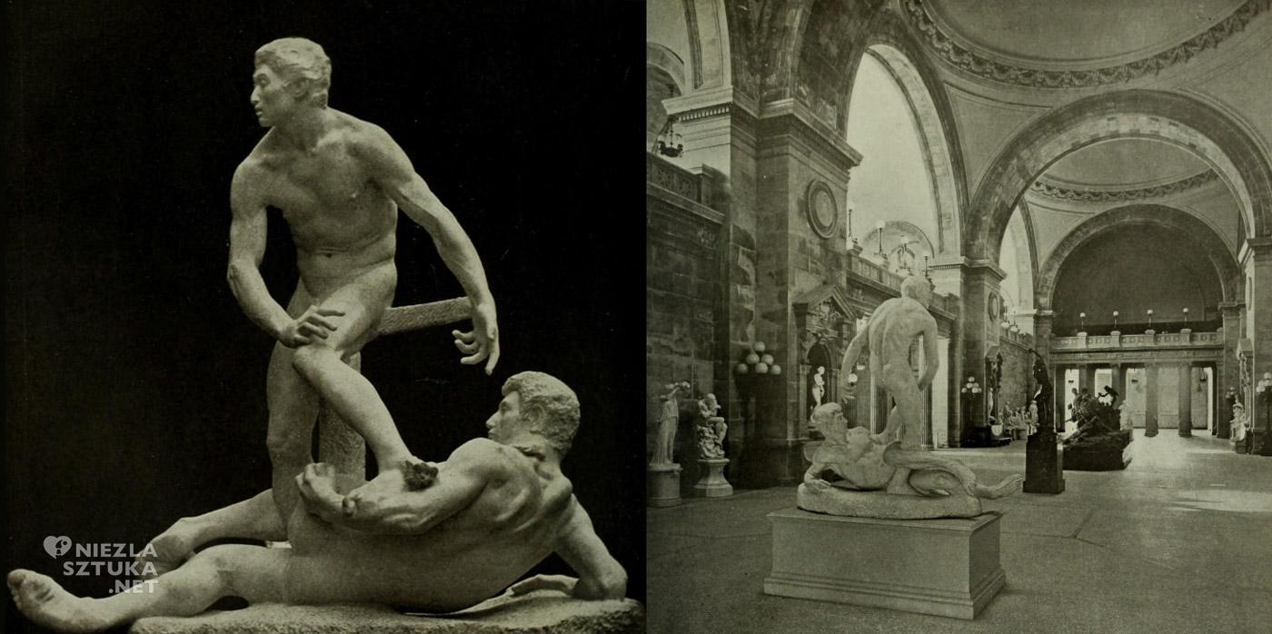 George Grey Barnard, The Struggle of the Two Natures in Man, Walka dwóch natur w człowieku, rzeźba, niezła sztuka